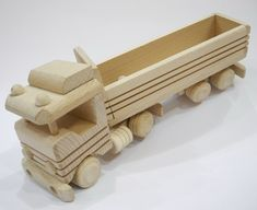 Truck with trailer, organic,handcrafted wooden toys, eco-friendly handmade toys for children, babies, kids, boys and girls. $25.99, via Etsy.