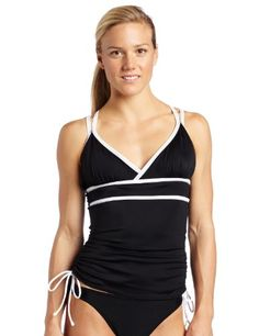bda57676c8920 Amazon.com: Speedo Women's Double Strap Tankini Swimsuit Top, Nautical  Navy, 12: Sports & Outdoors