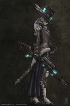 Pale Rider, another one of the Steampunk Girls by DPI Studios