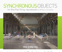 Synchronous Objects: Suite of Choreography and Dance/Data Art Tools from William Forsynthe's Frankfurt Ballet piece: One Flat Thing, reproduced.