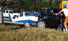 A small plane crashed into a car on Interstate 15 in northern San Diego County on Saturday, leaving one person dead and five injured, officials said. Headed to plane crash on 15 JNO 76. NCounty Fire tells me plane hit car. 1 dead, 5 hurt inc pilot Pic: Aamiah Grant. pic.twitter.com/r9G22E9S67—...