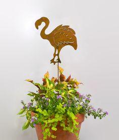 Flamingo Metal Yard Stake GS10 - Oregardenworks Home and Garden
