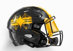 NFL Helmet Concepts Based on Cities That Need To Be Made Nfl Football Helmets, Star Wars Helmet, Pittsburgh Steelers, Hats, Cities, Hat, City