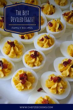 Deviled eggs with Chorizo and Bacon is a fun yet tasty twist on a classic Deviled Eggs recipe! Have fun and add a new dimension of flavor on this finger food that everyone loves. I promise you'll have none left and people will be asking for more! Cuban Recipes, Egg Recipes, Bacon Fries, Deviled Eggs Recipe, Party Finger Foods, Salty Cake, Latin Food, Savoury Cake, Chorizo