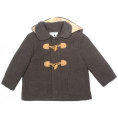 dc325f240 Moda infantil en Trenca de paño gris oscuro de bebé Marca Fina Ejerique de  la sección