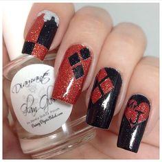 #SuicideSquad ready nails courtesy of Nerd Makeup Ambassador @iamdeliasnails…