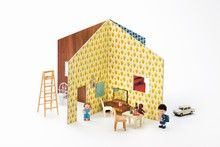 love this simple dollhouse... could make it out of cardboard or thin wood..??