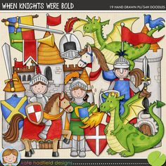 When Knights Were Bold is packed with knightly goodies and not-so scary dragons!