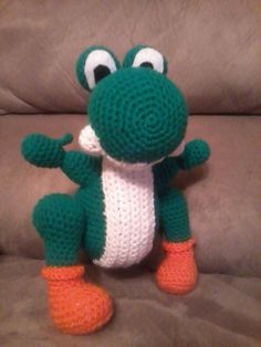 Here is a free amigurumi Yoshi pattern I made.I was inspired to make this after making an amigurumi super mario for my brother.This amigurmi Yoshi took me a few days to complete, mainly because I w...