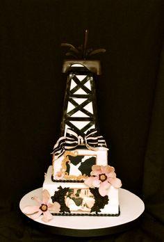 Cupcakes Confetti: Oil Rig Wedding Cake