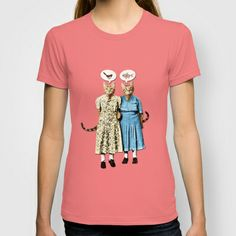 Two Cool Kitties: What's for Lunch? T-shirt #society6 #teeshirt #fashion #casual #cats #vintage #hungry #petergross