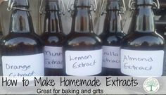 How To Make Homemade Vanilla, Mint, Almond and Citrus Extracts — Info You Should Know Homemade Cookies, Homemade Gifts, Homemade Spices, Sour Cream, Homemade Coffee Creamer, Orange Confit, Make Your Own, Make It Yourself, Homemade Vanilla
