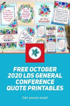 Use these free October 2020 General Conference quote printables to inspire your family, friends, and those you serve.These free conference printables are the perfect way to share goodness. #generalconference #genconf #generalconference2020 #lds2020 #2020ldsgeneralconference