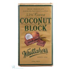 Day Whittaker's Coconut blcok, premium chocolate from New Zealand, travel essentials Chocolate Pack, Coconut Chocolate, New Zealand Food, Coconut Bars, Kiwiana, Toasted Coconut, Match Making, Confectionery, Travel Essentials