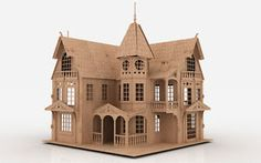 FM-3D-Puzzle-Laser-Plan-Doll-House-Pattern-CNC-Router-DXF-Dollhouse-ScrollSaw