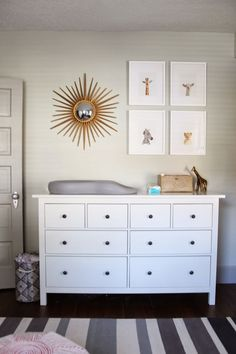 : March 2014 - gold, gray, white nursery, little animal shop prints