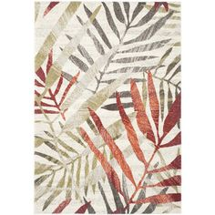 Porcello Ivory / Green Floral and Plant Rug | Wayfair.ca