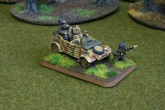 German Scout base for Flames of War. Painted by Panzer Schule