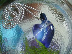 My Reinforced Little Heart - Lampwork Glass Necklace by Eighth Planet Glass