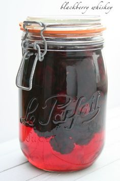 Homemade blackberry whiskey(takes one year, so start now) or vodka which is ready in a few weeks