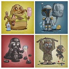 Star Wars character illustrations by OctopusTreeHouse