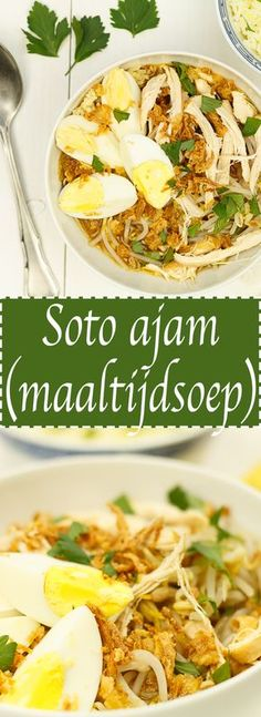Soto ajam – Food And Drink Quick Healthy Meals, Healthy Recipes, Indonesian Food, Indonesian Recipes, Asian Recipes, Ethnic Recipes, Caribbean Recipes, Comfort Food, Asian Cooking