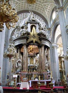 Puebla, México. This was one of the most amazing cathedrals we visited.