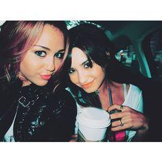 Miley Cyrus. Demi Lovato.