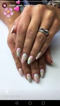 sugar effect beżowe paznokcie