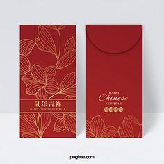 Chinese New Year Design, Chinese New Year Card, Envelope Art, Envelope Design, Chinese Red Envelope, New Year Packages, Red Packet, Bee Art, Red Design