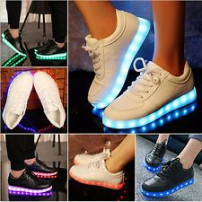 1ae5352ede9 LED Light Lace Up Unisex Sportswear Sneaker Luminous Flat Shoes Casual  Sneakers Calzado Mujer