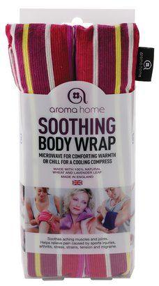 Aroma Home Body Wraps Pachnący kompres do ciała - bordowe pasy