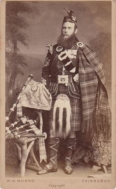 Here's the Pipe Major 1st battalion Seaforth Highlanders