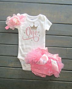 First Birthday Outfit, Baby's First Birthday Outfit, Cake Smash Outfit, Baby Pink Bloomers, Baby Girl 1st Birthday