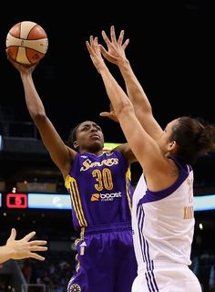 Nneka Ogwumike #30 of the Los Angeles Sparks attempts a shot (I bet it went in!)
