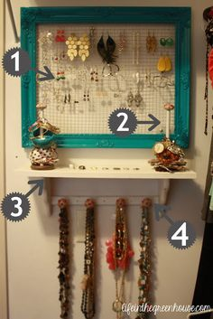 jewelry organization DIY...so trying this with a few minor modifications... ;)