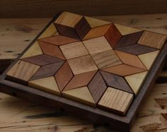 Hardwood Puzzle Trivel Set with Bowlunique cutting boards or