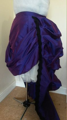 Customisable Grand Bustle Overskirt by BlueLadyCouture on Etsy