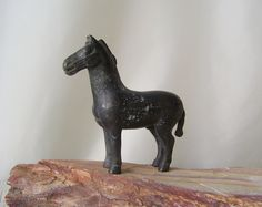 Vintage Bronze Horse Statue Horse Lover Collectable Figurine Aged Patina by cynthiasattic on Etsy