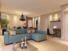 Decoração de salas grandes - Decore sua sala de estar de maneira funcional e elegante.