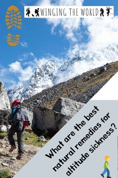 Many people use Diamox to tackle the effects of changing altitude, however, there are plenty of natural remedies for altitude sickness too. Altitude Sickness, Article Writing, Travel Articles, Natural Remedies, Good Things, Adventure, World, People, The World