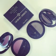 These #GiorgioArmani eyeshadows are just 2 of the 24 shades that make up the #EyesToKill range. Find the perfect colour to suit your complexion... #makeup #beauty #eyeshadow #johnlewis