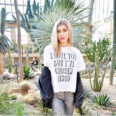 When you're all sold out of the tee, but US fashion blogger Dani McGowan looks so damn good in it, you gotta post it anyway... More slogan tees dropping soon!