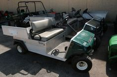 2001 Club Car Utility, Serial/VIN# ZG0126031511, Parts missing, inoperable. Gas engine. Does not run. Fleet# 05869. 2001 Club Car Utility Cart, Serial/VIN# ZG0126031513, Parts missing, inoperable. Gas engine. Does not run. Fleet# 05872. 2001 Club Car Utility Cart, Serial/VIN# ZG0126031516, Age, parts missing, inoperable. Gas engine. Does not run. Bill of sale only. Fleet# 05875. 2009 Club Car Turn 2 Utility Cart, Serial/VIN# QT0947068667, Age, parts missing, inoperable. Electric engine. Does…