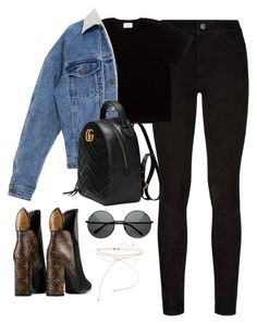 """Untitled #4126"" by magsmccray ❤ liked on Polyvore featuring Paige Denim and Gucci"
