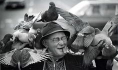 Memories of the Peanut Man with his pigeons