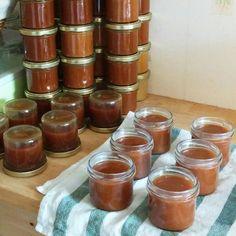 DIY : préparation de petits pots en verres pour le cadeau des invités de notre mariage.