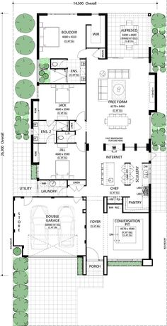 "Home Renovation Planning Locarno - Residential Attitudes Possible to have roof top lounge w/ stairs in ""utility"" area? Home theatre/bar in ""talking"" room? Single Storey House Plans, Narrow Lot House Plans, New House Plans, Dream House Plans, Modern House Plans, Modern House Design, House Floor Plans, Architectural Floor Plans, Casa Patio"