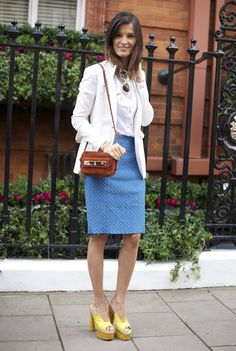 Cute look however, I would sew a hem on the skirt...