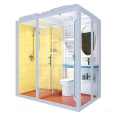 Source Cheap and fashinable prefab all in one modular bathroom with washing basin for house trailer Tiny Bathrooms, Tiny House Bathroom, Small Bathroom, Bathroom Storage, Unit Bathroom, Bathroom Ideas, Bathroom Makeovers, Shower Pods, Cheap Baths